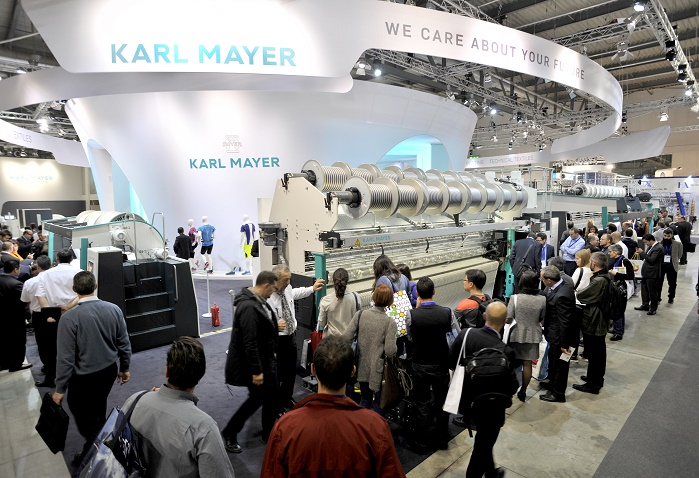Karl Mayer's exhibition team had recorded roughly 1,650 conversations during the ITMA trade show. © Karl Mayer