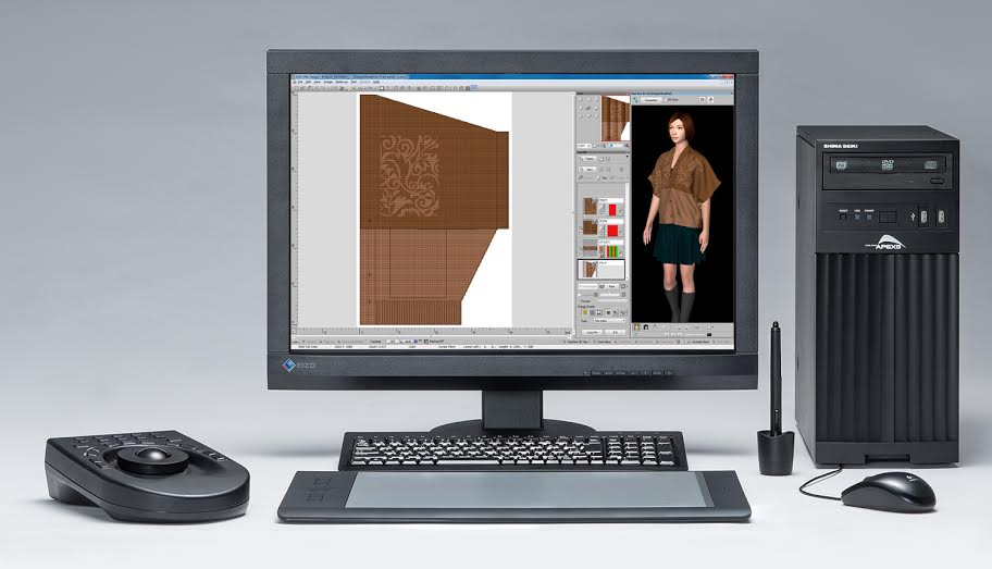 The 3D simulation allows evaluation of knitwear from all angles. © Shima Seiki