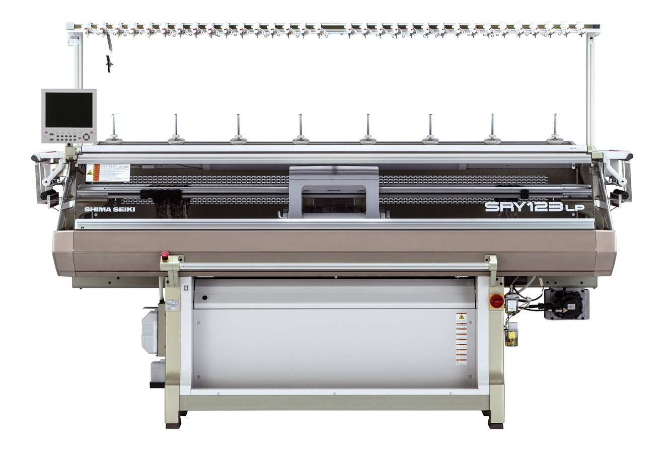 On display for the first time at ISPO will be the SRY123LP machine, which can produce hybrid knit-weave fabrics using inlay yarns. © Shima Seiki
