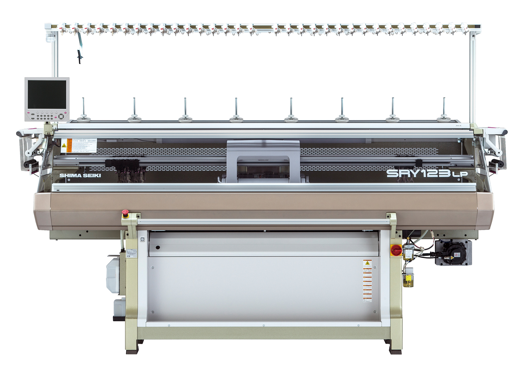 SRY123LP Computerized flat knitting machine. © Shima Seiki