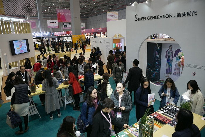 The visitor figure rose once again, the third consecutive increase since the Spring Edition's move to Shanghai in 2014. © Messe Frankfurt/Intertextile Shanghai Apparel Fabrics – Spring Edition