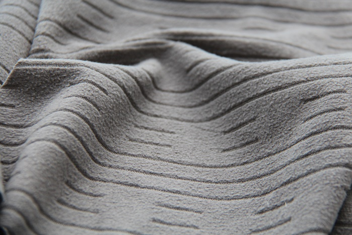 Structured upholstery fabric, produced on a HKS 4-M EL. © Karl Mayer