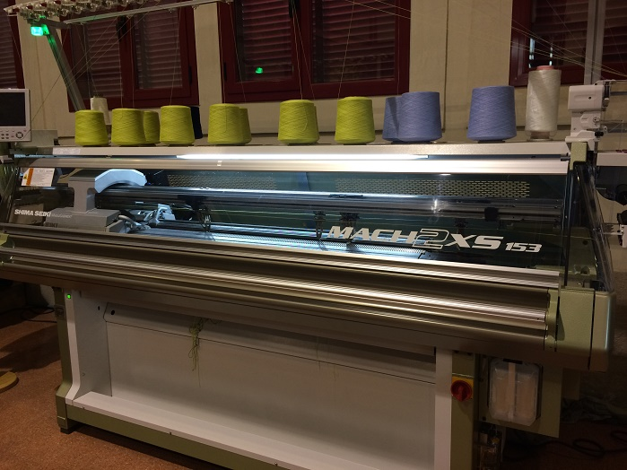 Shima Seiki's MACH2XS 153 in action in Spain.