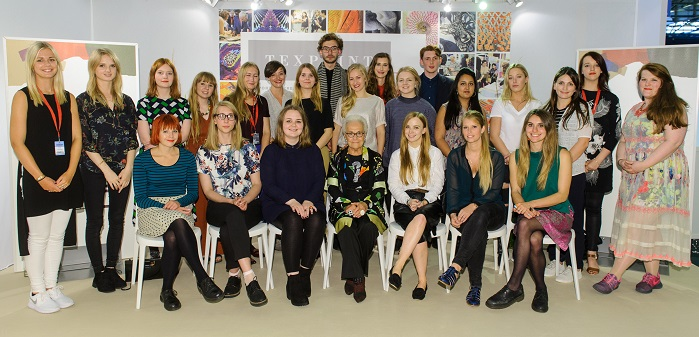The Texprint 2015 designers alumni with Signora Rosita Missoni. © Texprint