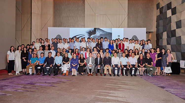 More than 100 Woolmark licensees from China gathered for an annual seminar to exchange ideas about the wool industry. © The Woolmark Company