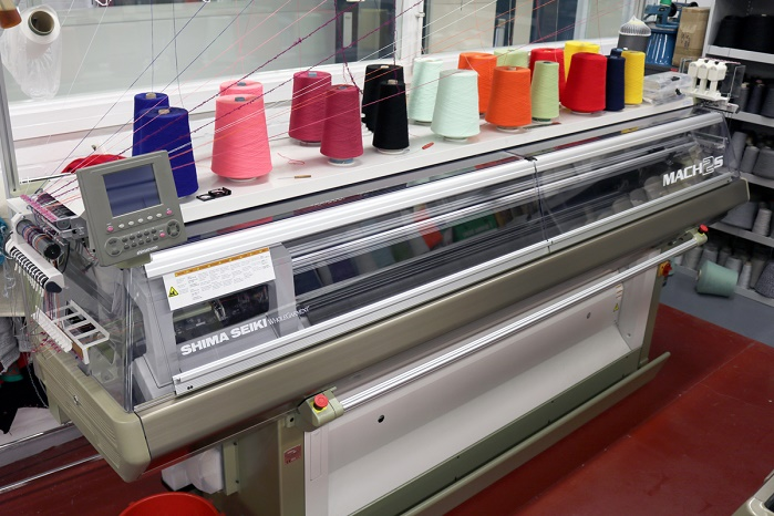Shima Seiki MACH2S high speed Wholegarment knitting machine. © University of Huddersfield