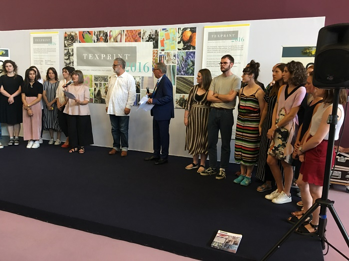 The Texprint winners were awarded with their prizes by Martin Leuthold, the revered Artistic Director of Jacob Schlaepfer. © Janet Prescott