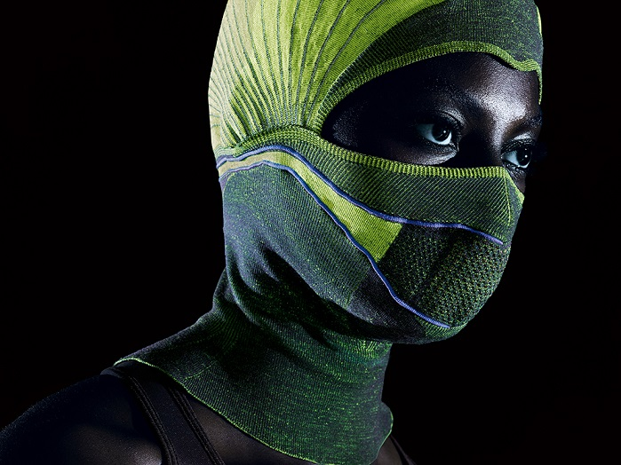 The balaclava was created on the Stoll CMS ADF 32 BW flat knitting machine. © Stoll