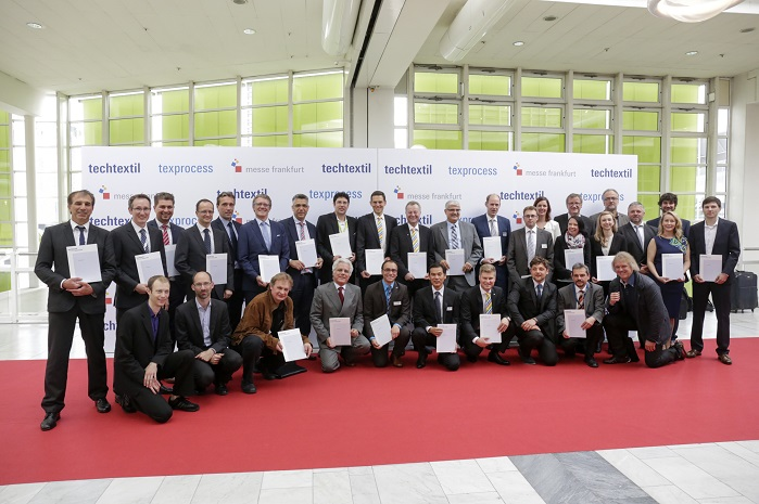 Winners of the 2015 Techtextil Innovation Award / Texprocess Innovation Award. © Messe Frankfurt Exhibition GmbH / Thomas Fedra