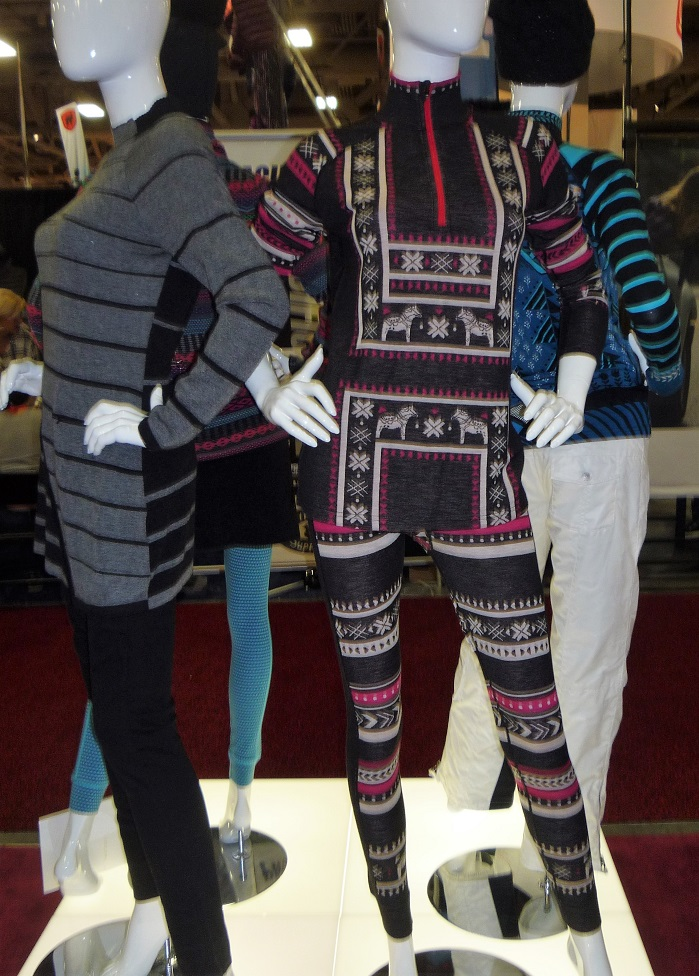 Krimson Klover's merino wool knits in colourful patterning. © Debra Cobb