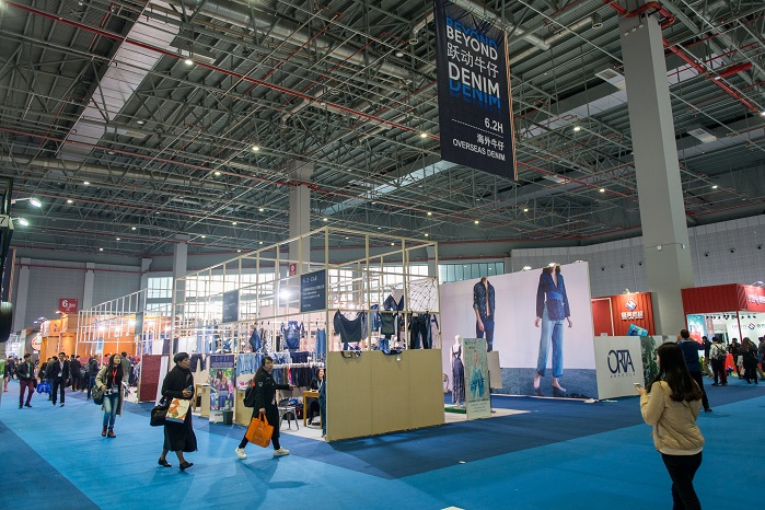 The fair's Beyond Denim area grew in size this edition. © Messe Frankfurt / Intertextile Shanghai Apparel Fabrics