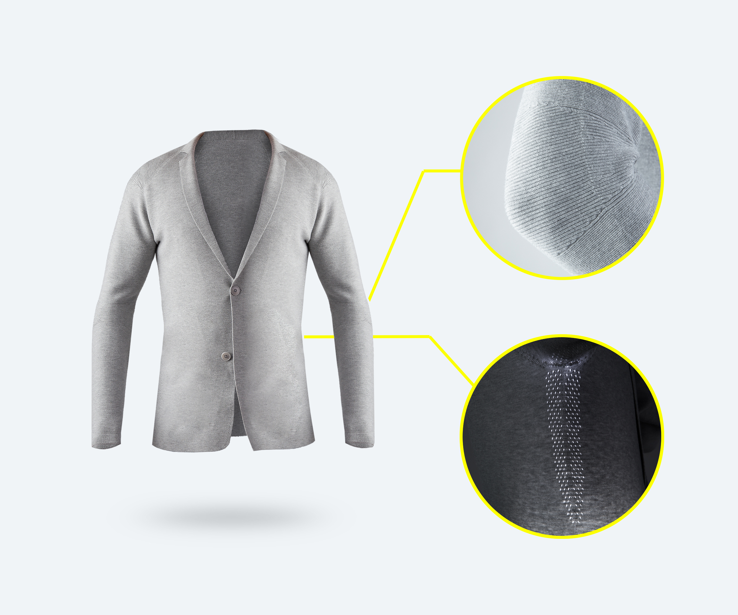 Ministry of Supply launched its first range of 3D knitted seamless blazers in 2016. © Ministry of Supply