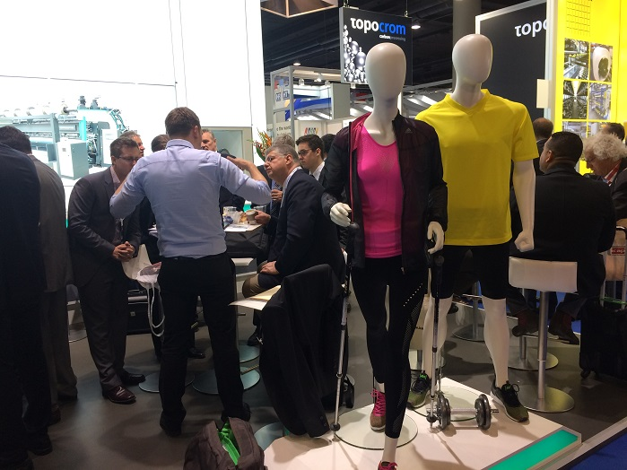 Karl Mayer's booth at Techtextil 2017 in Frankfurt. © Innovation in Textiles