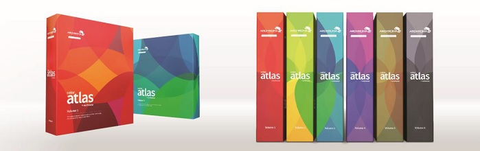 The Color Atlas by Archroma comprises six volumes organised by colour group. © Archroma
