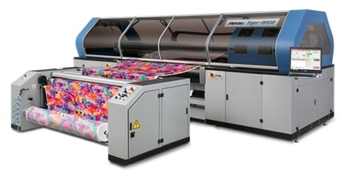 "Belt-Type Direct-to-Textile Inkjet Printer ""Tiger-1800B"", by Shanghai Mimaki Trading. © ShanghaiTex"