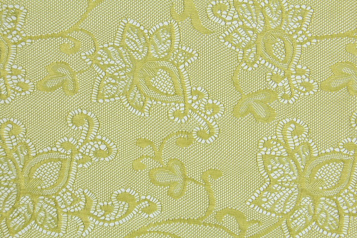 Delicately patterned fabrics produced on Karl Mayer's RSJ 4/1 machine open up new design options. © Karl Mayer