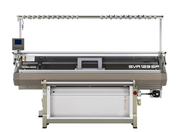 SVR123SP-SV 14G Computerised flat knitting machine. © Shima Seiki