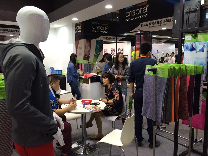 creora exhibiting at last year's event. © Knitting Industry