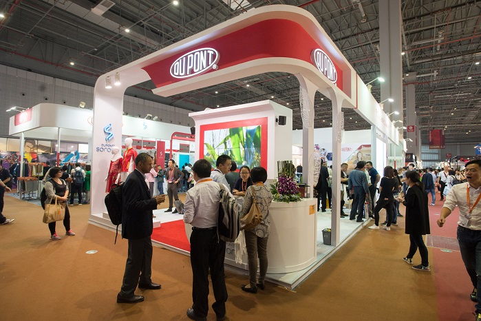 Buyers were drawn to the DuPont Pavilion at last year's fair. © Messe Frankfurt / Intertextile Shanghai Apparel Fabrics