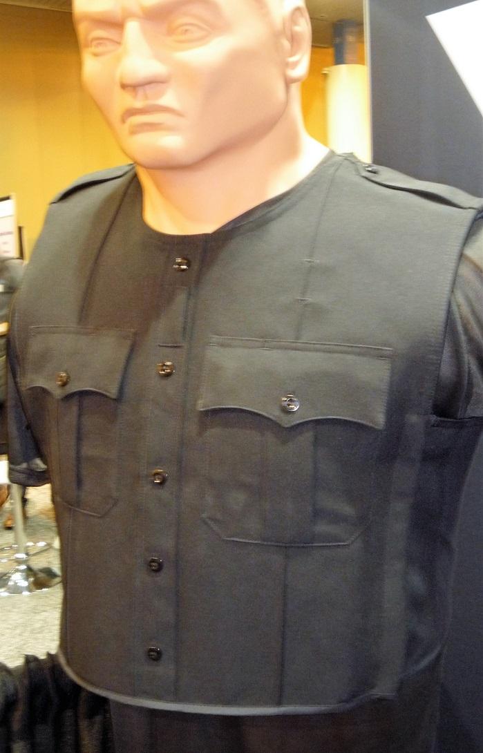 Body armor utilizing VOLT conductive threads. © Debra Cobb