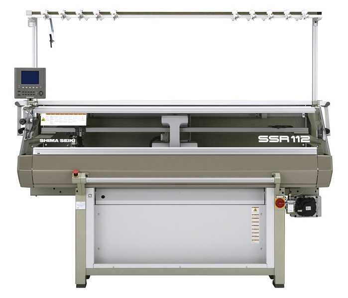 SSR112-SV 07G Computerised flat knitting machine. © Shima Seiki