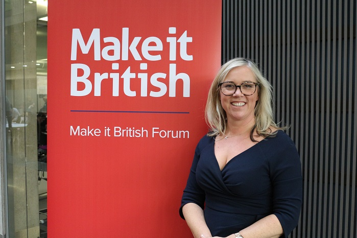 Kate Hills, the founder of Make it British. © Knitting Industry