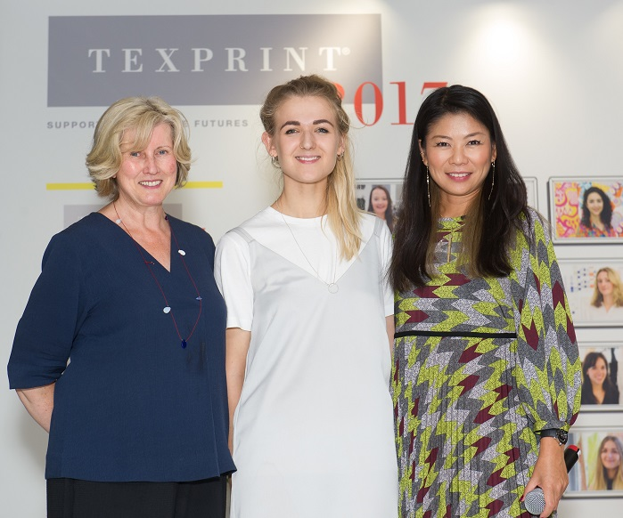 Left to right: Rosie Moorman, winner of the Woolmark Company Texprint Award. © Texprint