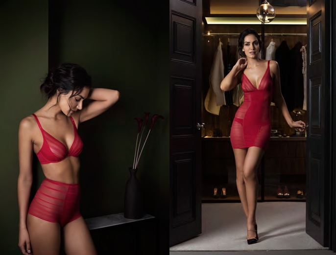 This Fall/Winter, Wacoal unveils a new shade of Sexy Shaping: a vibrant red. © Wacoal