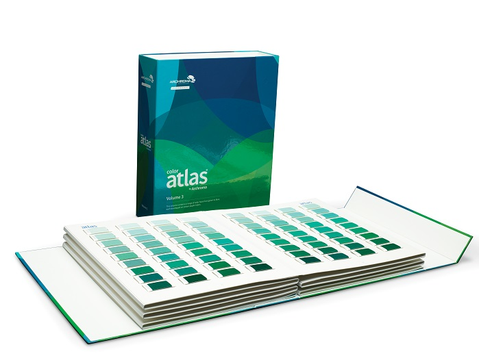 Color Atlas by Archroma, a library of 4,320 color swatches, in six volumes. © Archroma
