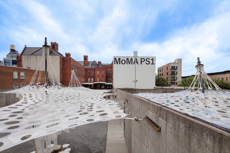 Lumen by Jenny Sabin Studio for The Museum of Modern Art and MoMA PS1's Young Architects Program 2017. © MoMA PS1