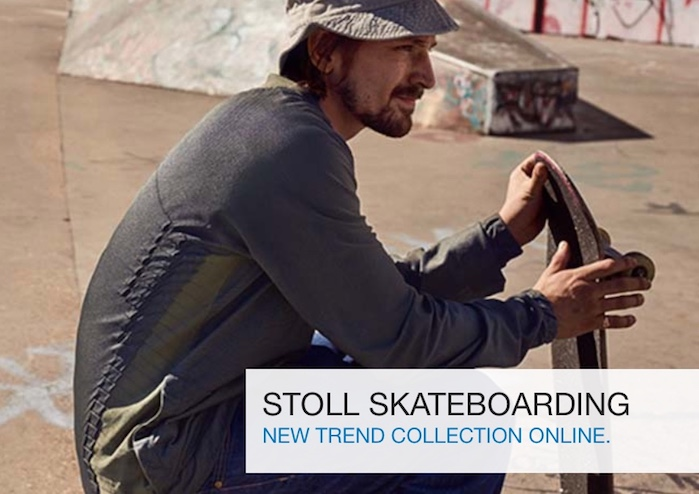 STOLL Trend Collection Spring Summer 2019 SKATEBOARDING. © STOLL.