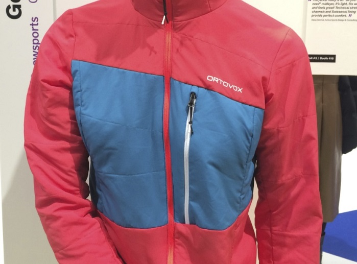 Swisswool Tec Stretch Zebru jacket by Ortovox at ISPO 2018. © Anne Prahl