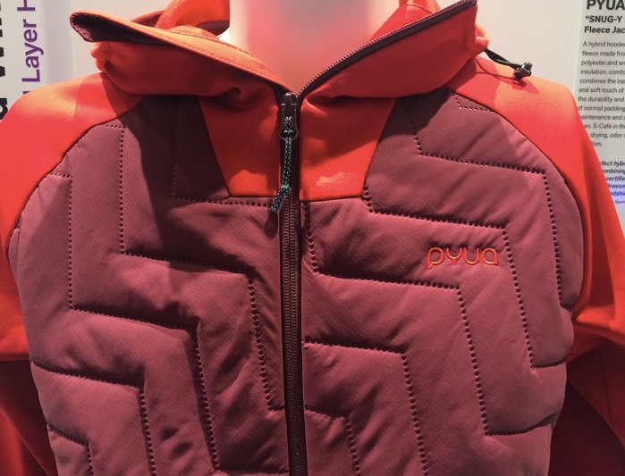 PYUA 'snug-y 2.0' mens' hybrid fleece jacket at ISPO 2018. © Anne Prahl