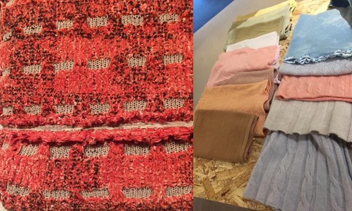At E.Miroglio, their modern viscose yarns were showcased in a simple vintage femininity. © Charlotte Cameron