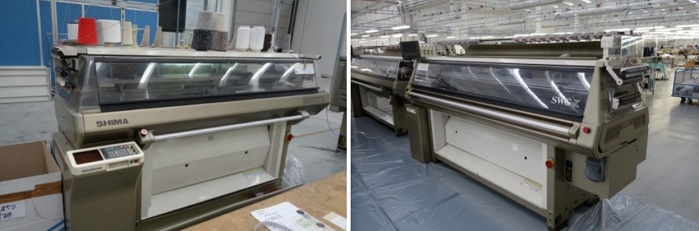 The auction features 36 of the latest high quality Shima Seiki models. © Astoca