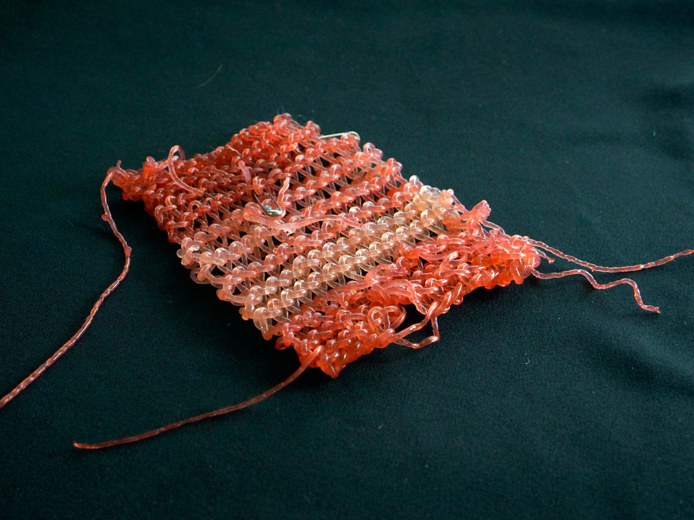 Knit swatch from AlgiKnit. © AlgiKnit