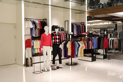 Glenmuir has opened its first pop-up store in Gangnam, South Korea. © Glenmuir