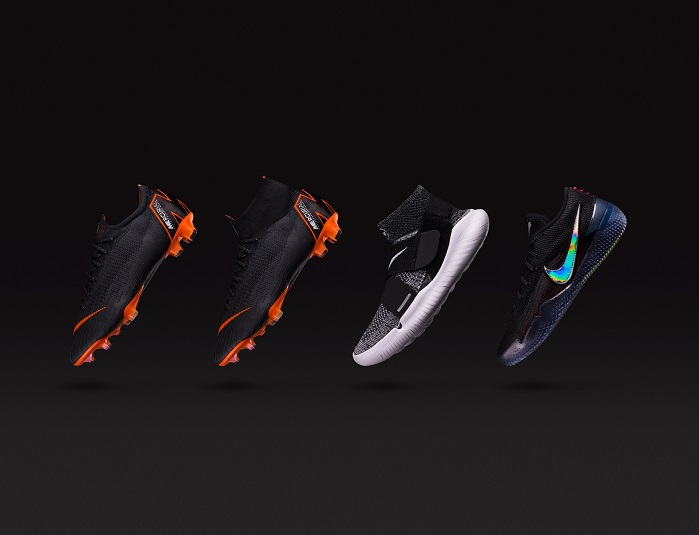 The new technology offers a lighter, breathable shoe with a more precise, second-skin feel. © Nike