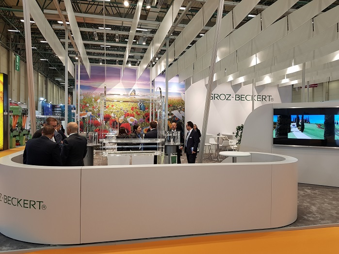 Groz-Beckert welcomed more than 2,000 visitors at its booth. © Groz-Beckert