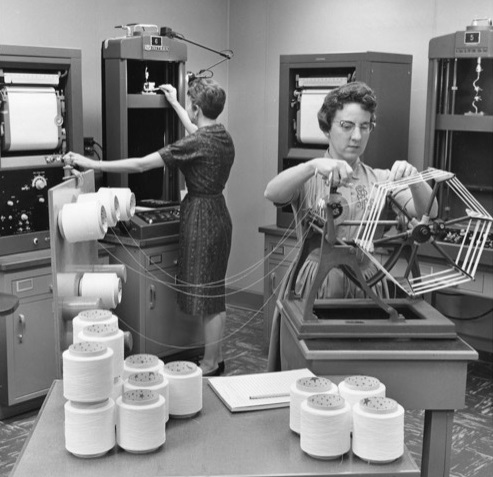 Lycra fibre in the making. © Hagley Museum and Library