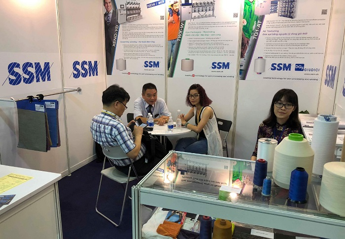 SSM at Saigontex 2018. © SSM Textile Machinery