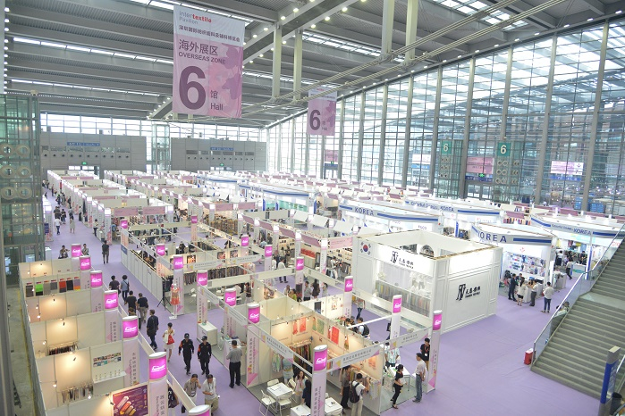 This year's fair will expand by one hall, bringing the total to four. © Messe Frankfurt/ Intertextile Pavilion Shenzhen