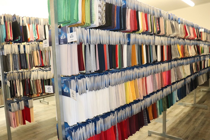 Customers like Inditex will very quickly need five metres of any given fabric for prototyping, requiring a highly-organised stock control system. © A. Monforts Textilmaschinen GmbH & Co. KG