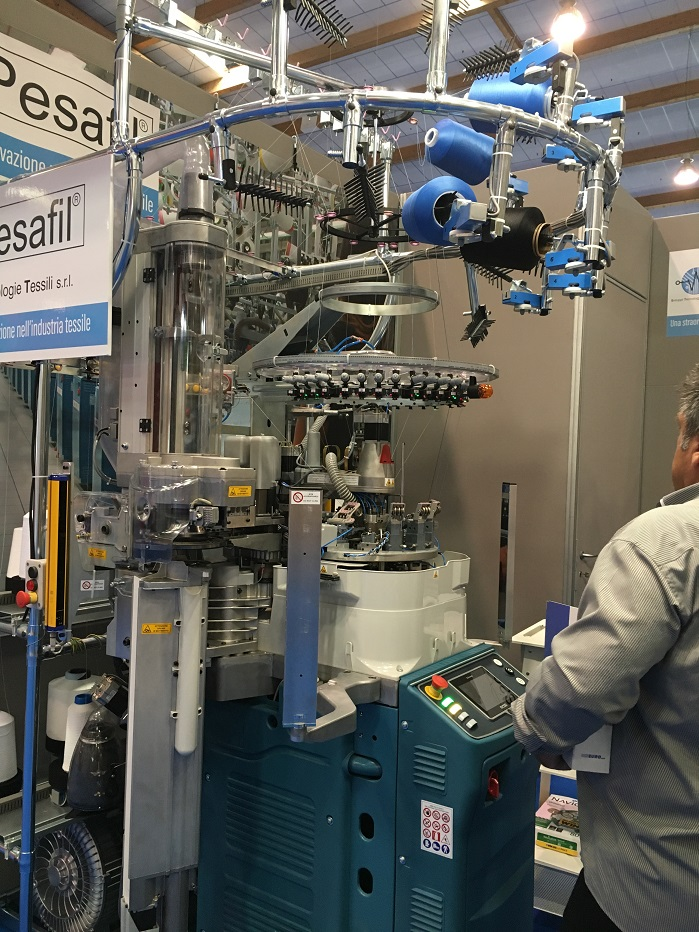 Pesafil comprises of a central processing unit, which monitors in real time, up to 30-40 yarn positions on a knitting machine. © Knitting Industry
