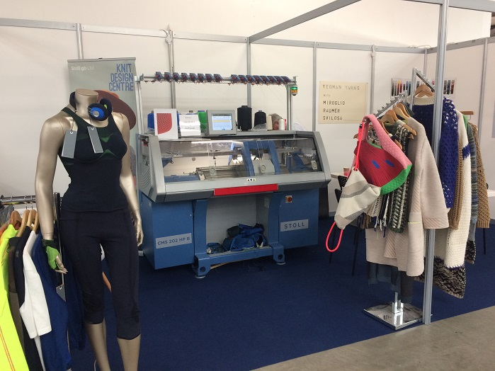 Stoll exhibited its CMS 202 HP B machine at the show. © Knitting Industry