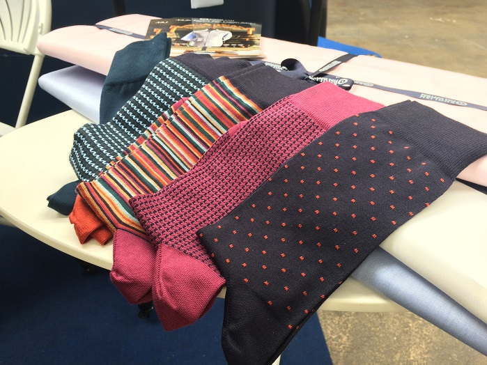 English Fine Cottons exhibited its latest additions to the range, including socks. © Knitting Industry