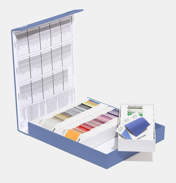 "Polyester Swatch Set is a storage case for all 203 colours in new 2x2"" removable swatches for colour selection and palette development. © Pantone LLC"