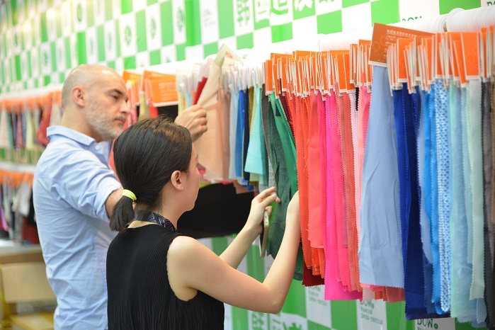 A number of Chinese exhibitors will feature innovative and eco-friendly sourcing options this edition. © Intertextile Pavilion Shenzhen