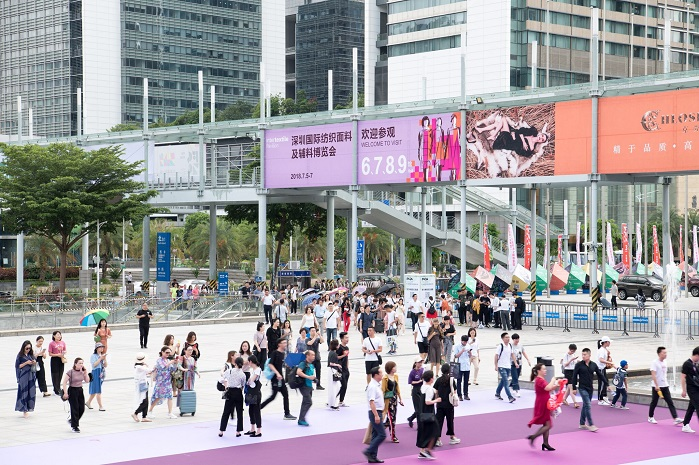 The fair welcomed record 17,664 trade buyers from 35 countries and regions. © Messe Frankfurt/ Intertextile Pavilion Shenzhen