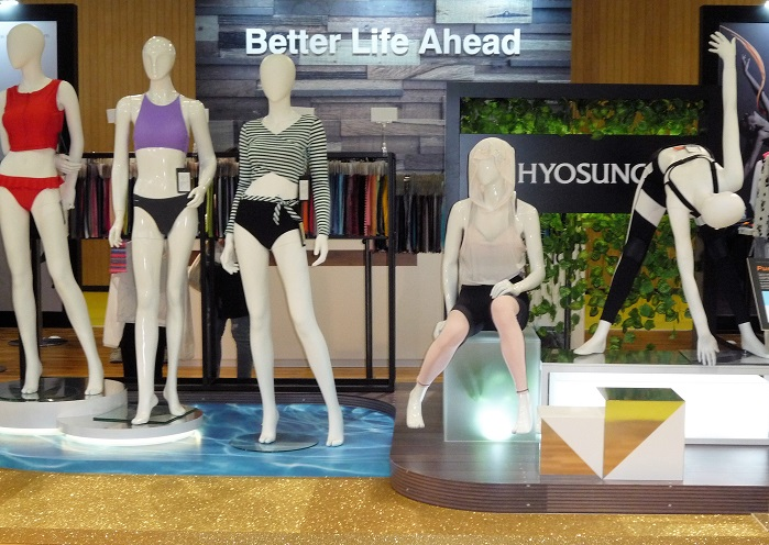Hyosung's array of synthetic fibres offers solutions to intimate, swim, and activewear brands. © Debra Cobb